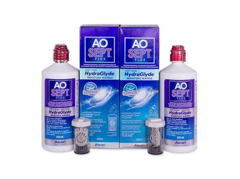 Alcon AoSept Plus with HydraGlyde - 2x360 ml ápolófolyadék + tároló tok
